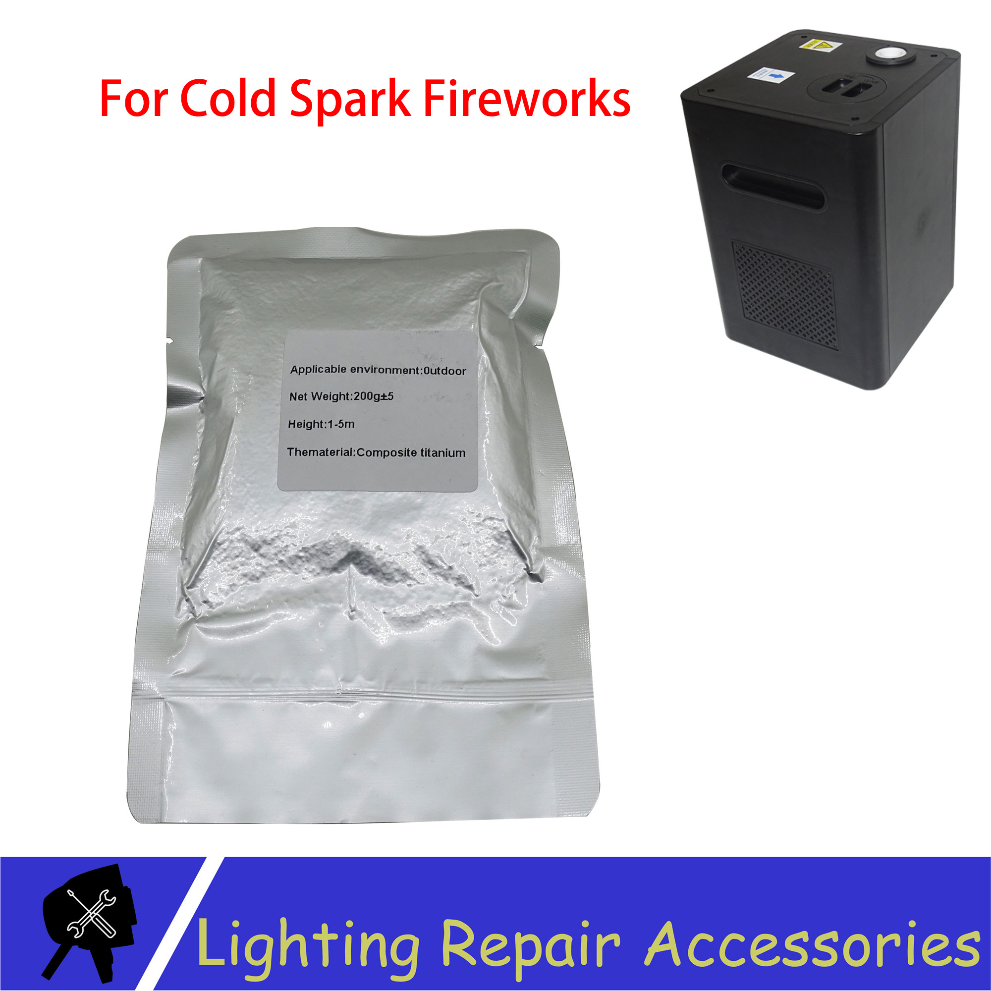 200g/bag Outdoor Indoor Cold Spark Sparkler Metal Titanium Powder For Cold Flame Stage Firework Machine Powder