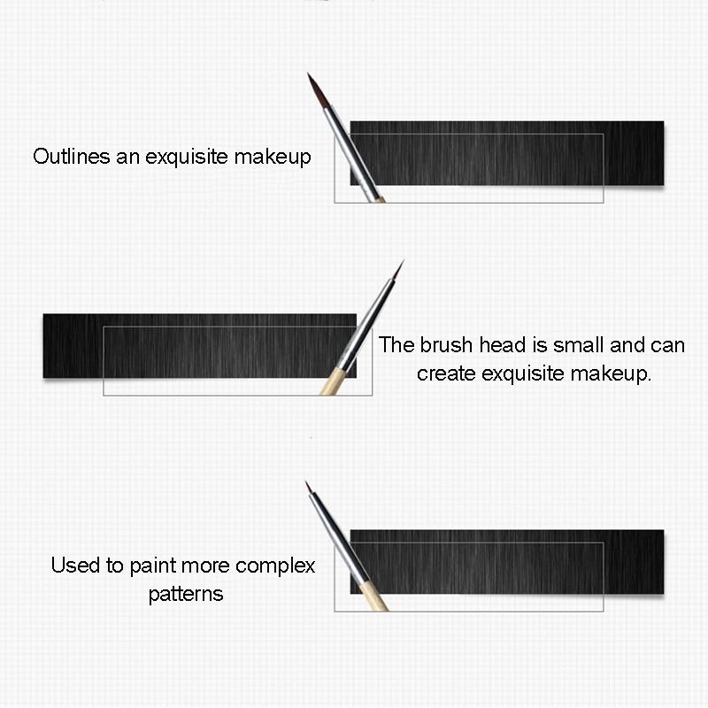 6Pcs Body Paint Makeup Brushes Set Painting Face Brush Tools Wood Handle Halloween Cosmetic Art Kit @ME88