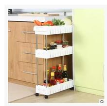 The refrigerator is stitched into the kitchen shelves and rack can be moved