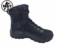 New Army Tactical Comfort Leather Combat Military Ankle Boots Mens Army Shoes Black ZIP SIDE