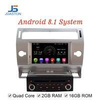 JDASTON Android 8.1 Car DVD Player For Citroen C4 Quatre Triumph Multimedia Video Player 2G RAM WIFI GPS Navigation Radio Stereo
