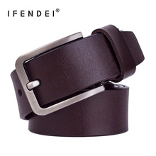 IFENDEI Genuine Leather Belt Leather Trouser Men's Designer Fashion Belt High Quality Metal Waist Belt Vintage Belt Buckle Jeans