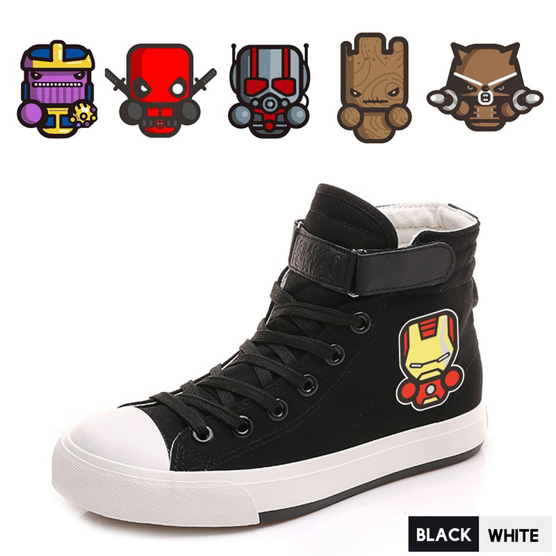 Men's Shoes Shoes Cartoon Marvel Hero Spider-man Venom Deadpool High Top Canvas Uppers Sneakers College Fashion Shoe Men A193291