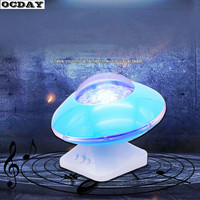 Rotating Night Light Up Toys Projector Starry Lamp LED Music Speaker Flashing Starling Projection Lamp For