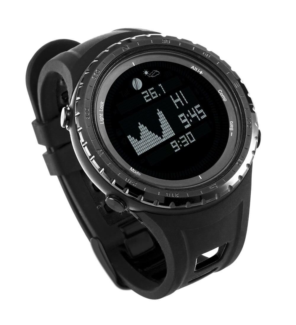 Relojes digitales impermeables SUNROAD para hombre con reloj de pulsera de escalada podómetro termómetro de fase luna-in Relojes deportivos from Relojes de pulsera    3