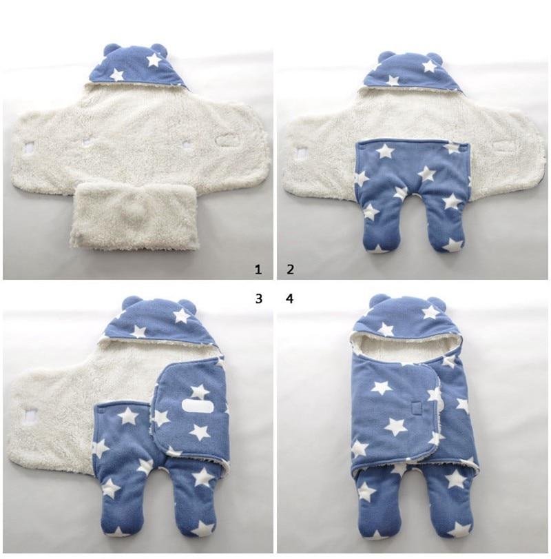 MOTOHOOD Baby Blanket Infant Thicken Flannel Swaddle Stroller Cartoon Winter Blanket Newborn Baby Bedding Blankets Sleeping Bag  (15)