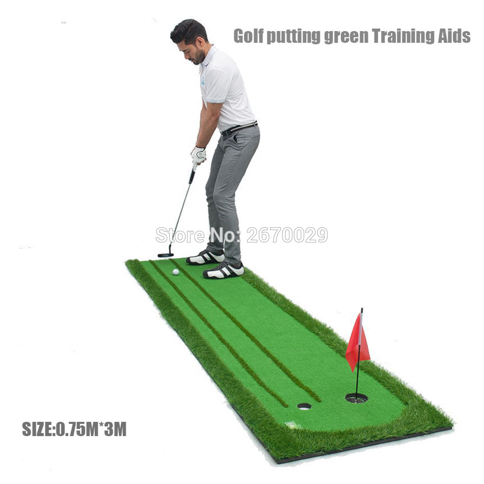 Golf putting green  Training Aids swing mat practice device 2 holes in the green 2017 new