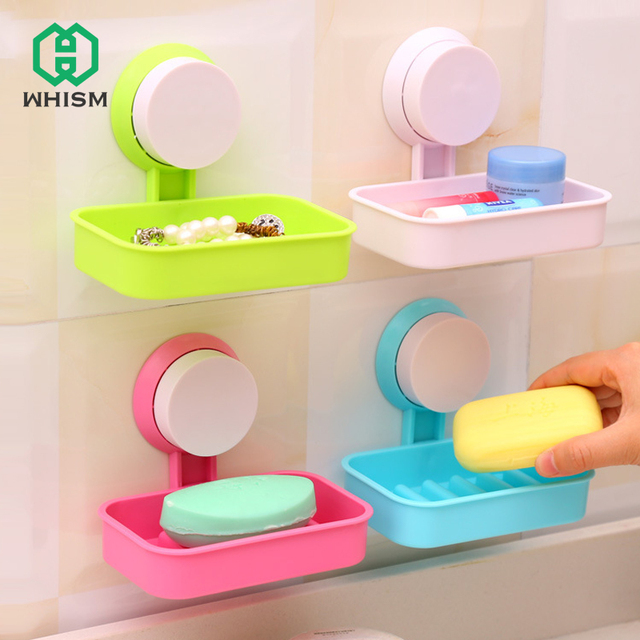 Creative soap dishes handmade soap racks soap sponge holder bathroom Accessories strong Sucker