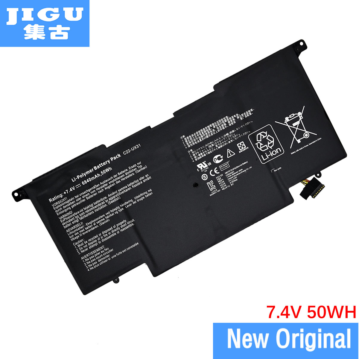 JIGU C22-UX31 C23-UX31 Original laptop Battery For Asus Ultrabook for ZENBOOK UX31 UX31A UX31E 7.4V 6840MAH 50WH free shipping new 50wh genuine c32n1305 battery for asus zenbook infinity ux301la ultrabook laptop