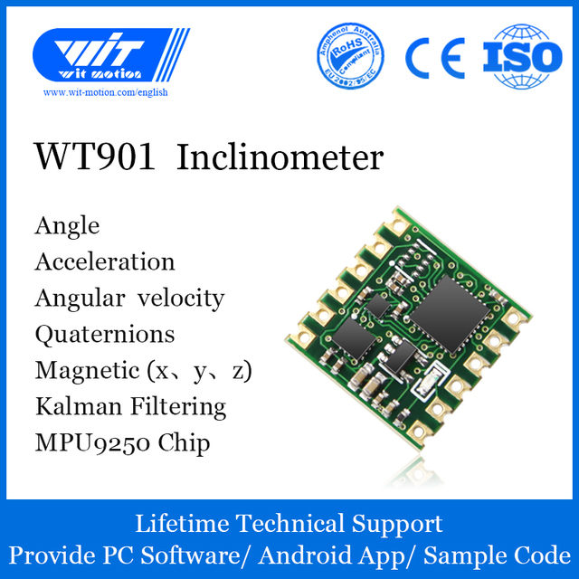 WitMotion WT901 AHRS MPU9250 9 axis Accelerometer, 3 axis Eletronic Gyroscope+Acceleration+Angle+Magnetometer, TTL Data Outout