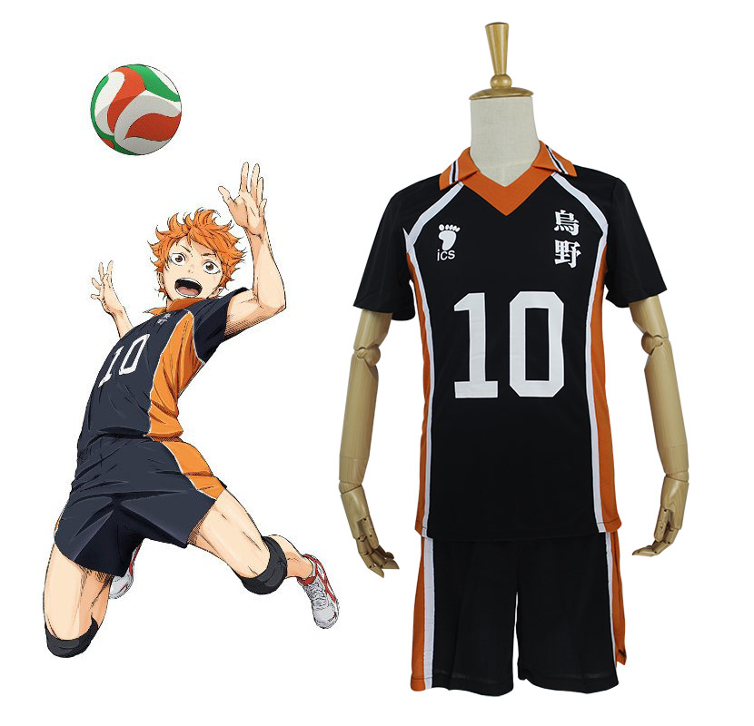 9 Styles Hot Anime Karasuno High School Cosplay Costumes Haikyuu!! Outfit Jerseys Shirts and Pants Uniform