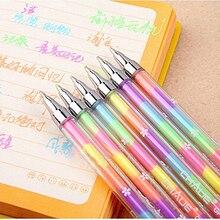 6 цветов, ручка для студентов, шариковая ручка для детей, школьные принадлежности, высокое качество, 1 шт., новинка, Kawaii, милый маркер, маркер, стационарный