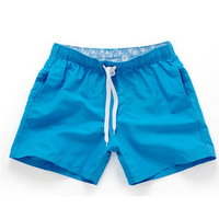 Blue-Men Beach Sport Swim Trunks Surf Swimwear Quick Drying Briefs