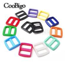 """10 шт Упаковка 3/""""(20 мм) красочные пластиковые изогнутые Tri Glide слайдер регулировать пряжки широкий стиль лямки рюкзака сетка сумки запчасти"""