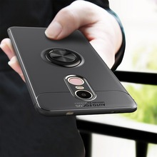 Rotating Finger Ring Magnetic Car Holder Case Redmi Note 4X / 4 Back Cover Silicone Cases For Xiaomi