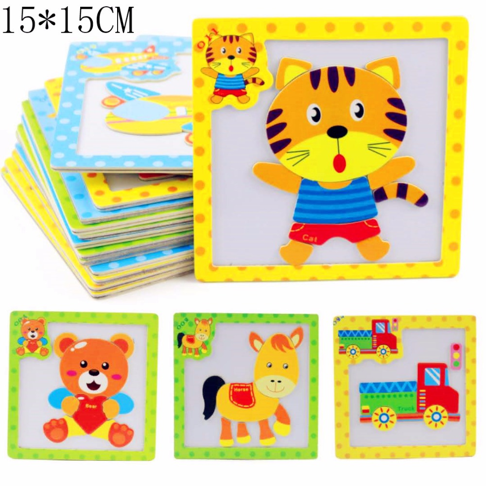 DIWENHOUSE Toddler Toys Educational Travel P Wooden Magnetic Jigsaw Puzzles Toy