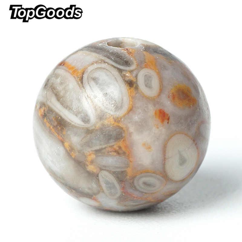 "TopGoods พลอยแท้ Maifanite Stone หลวมอัญมณีลูกปัด 6/8/10 มม. 15 ""Medicinal Jasper สำหรับมุสลิมลูกปัดวัสดุ"