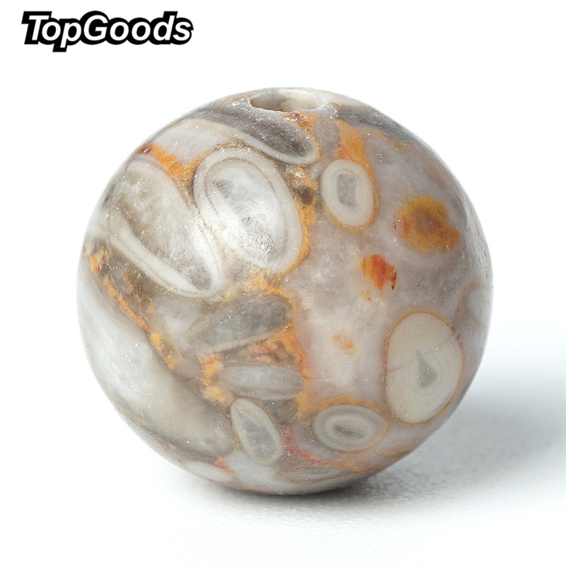 TopGoods Natural Gemstone Beads Maifanite Stone Loose Gem Bead 6/8/10mm 15