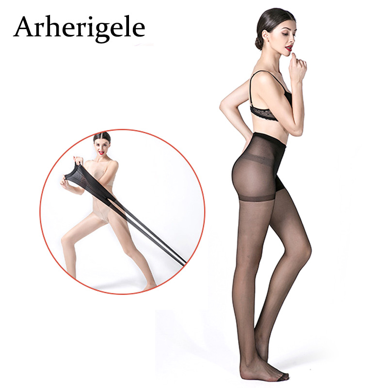 Arherigele Plus Crotch Women Pantyhose For Girls Black Skin Color Transparent Pantyhose Summer Female Nylon Pantyhose Tights