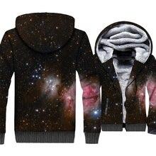 Space Galaxy 3D Hoodies Men Colorful Nebula Sweatshirts Harajuku Coat 2018 Brand Winter Thick Fleece Warm Paisley Jackets