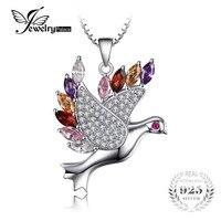100 925 Sterling Silver Dove Shape Pendant Necklace 45cm 925 Sterling Silver Chain Fine Jewelry Fashion