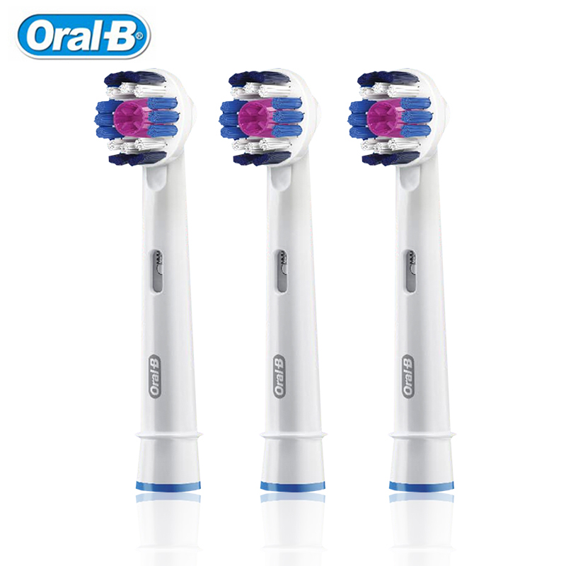 Oral B EB18 Brush Heads Electric Toothbrush 3D White Tea Spot Smoke Teeth Stains Removal Replaceable Oral-B D12/D16/D20/OC20 image