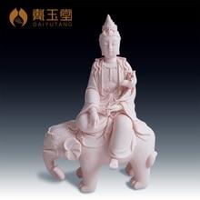 Dai Yutang ceramic Buddha home decoration gifts Hua Yan Shing bodhisattva Buddha/12-inch Samantabhadra D06-83