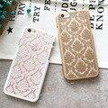 Oco out flor para apple iphone 5s case pc capa dura para iphone 5 capa rendas de luxo para o iphone se case de silicone escudo do telefone