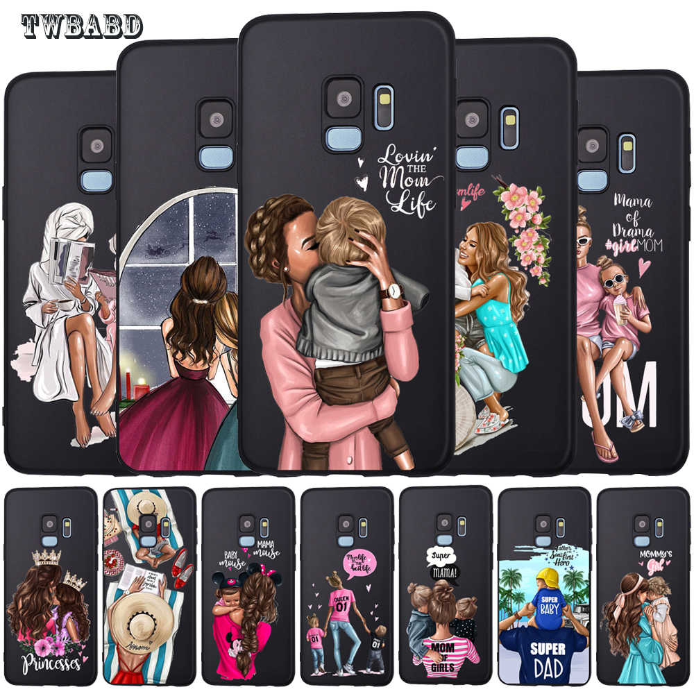Baby Mouse Mama Mouse Super Mom Girl Phone Case For Samsung Galaxy S9 S8 S10 Plus S7 S6 Edge S10 Lite Note9 8 Family Cover Etui