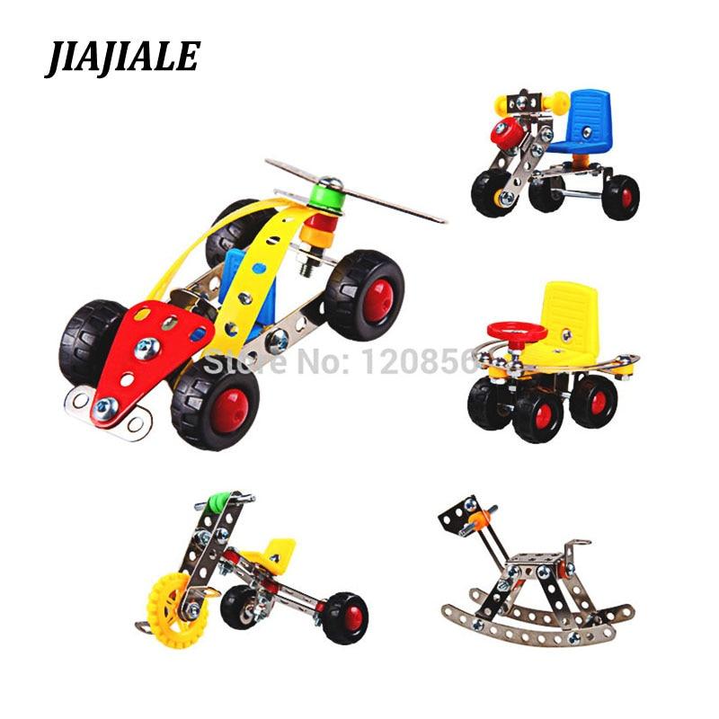 3D Puzzle Metal DIY Assembly Vehicle Model Kit Enlighten Kid Educational Toy Car