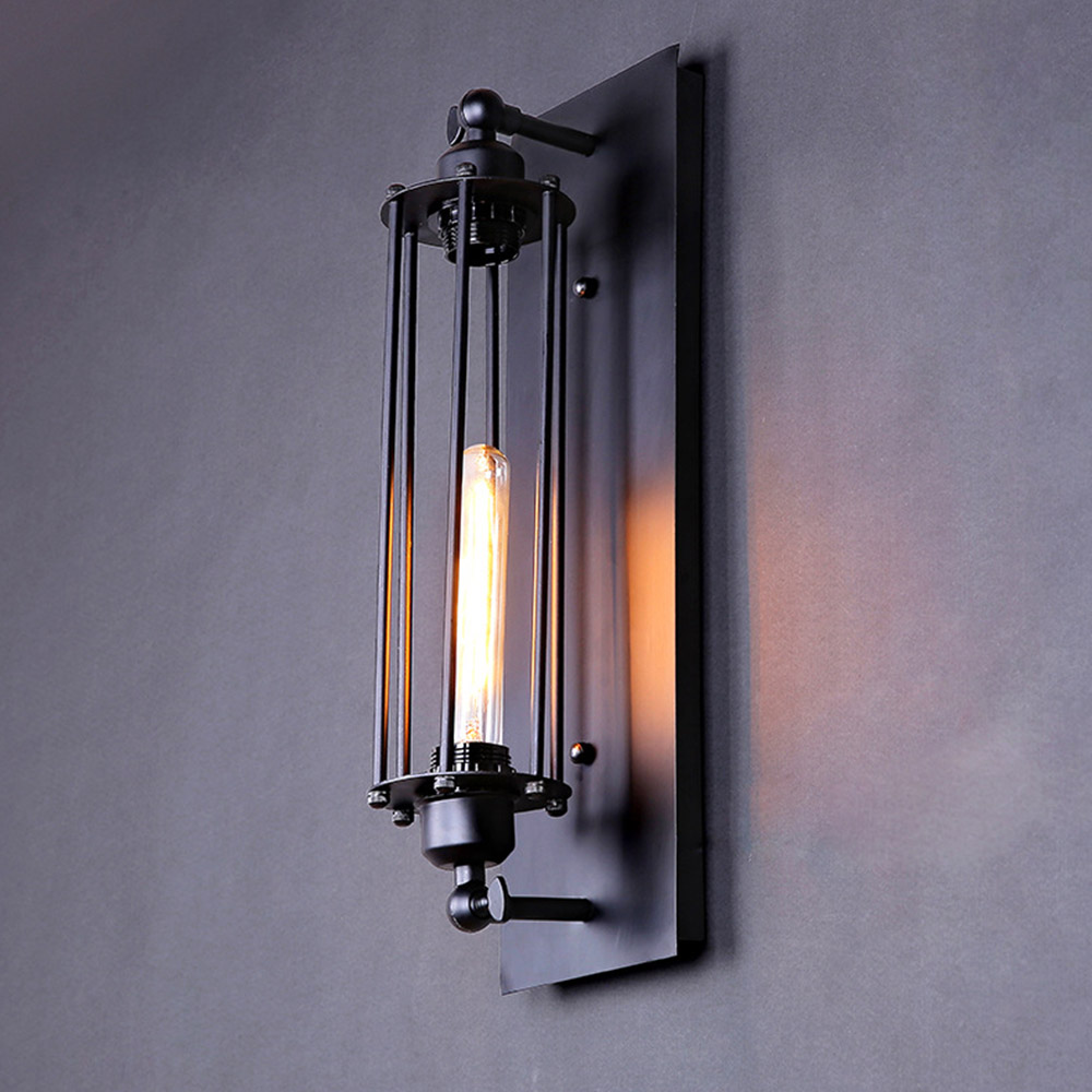 personalized antique wall light novelty test tube design iron black sconce e27 industrial wall lamp handmade