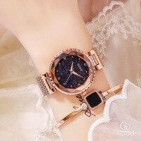 Топ Марка розового золота кварцевые часы Для женщин Нержавеющаясталь наручные часы Роскошные дамы кристалл часы платье Смотреть montre femme