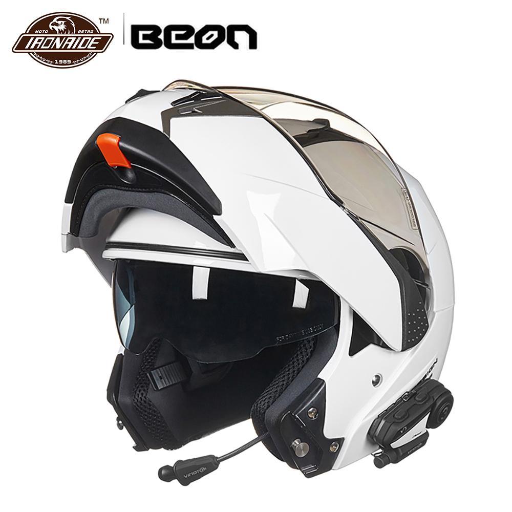 BEON Filp Up Motorcycle Helmet Casco Moto Motorbike Capacete Double Visor Full Face Racing Motocross Helmet for Men Women
