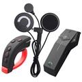 FreedConn COLO-RC Capacete Da Motocicleta Do Bluetooth Interfone Headset NFC Função FM Com Fone de Ouvido Macio + Controle Remoto