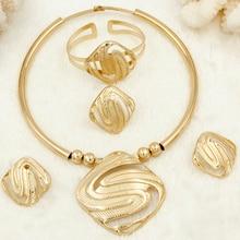 Super hot! CZ Italian Fashion Wedding Jewelry Set Letter Pendant Bracelet Earrings Necklace Womens Accessories
