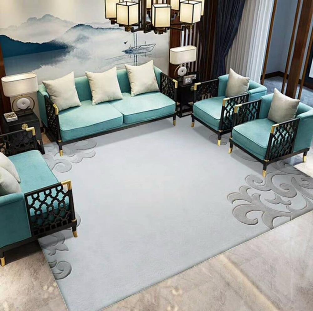 Simple et élégant tapis pour Salon tapis Européenne Moderne De Luxe Grande taille Personnalisé Européenne tapis 100% laine tapis Gris tapis