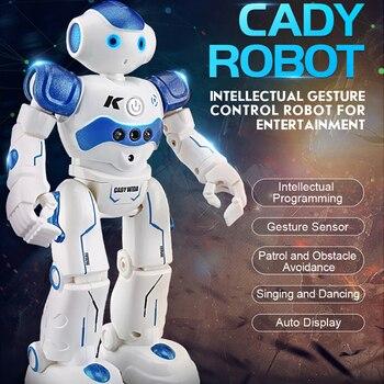 Rc robô de controle remoto de programação inteligente robô brinquedo robô humanóide biped crianças presente aniversário robô inteligente cão animal estimação