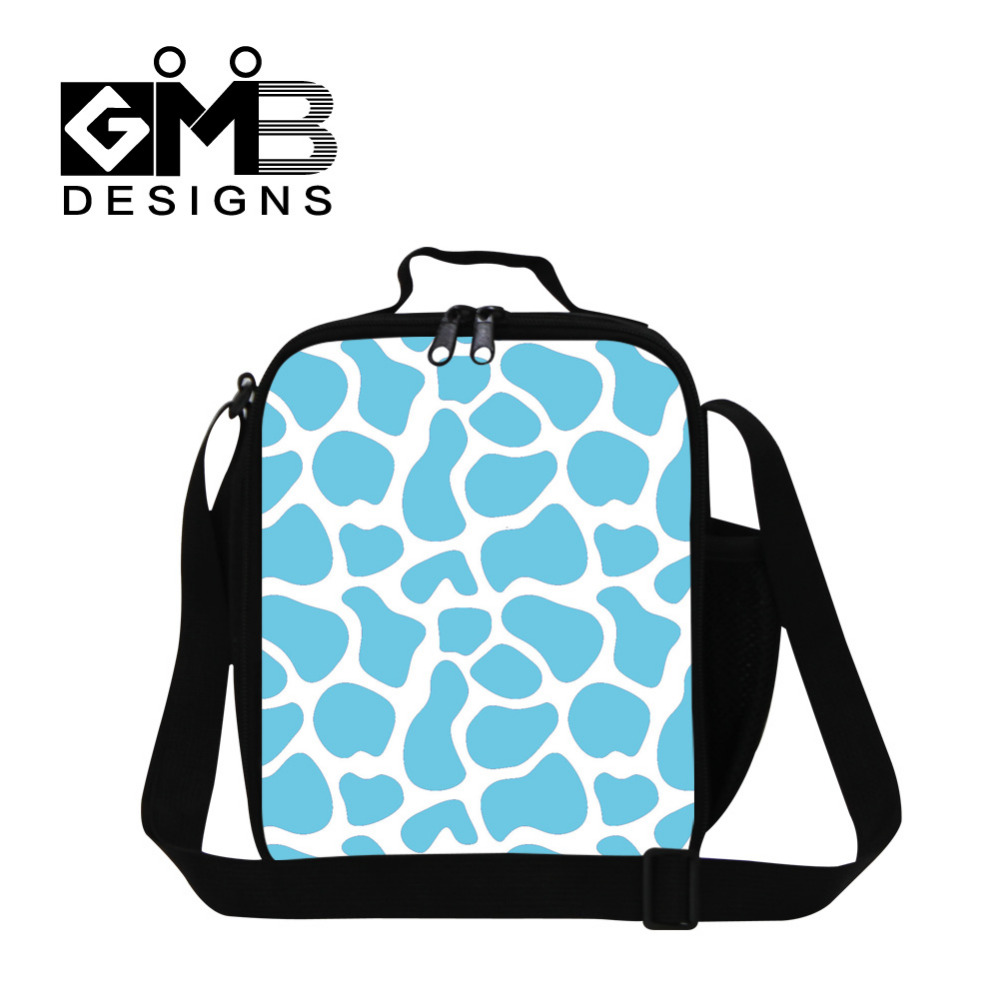 New Designer Insulated Lunch Bag For Women Striped Style Lunchbag For Kids Color Bag Blue Thermal Lunch Picnic Box Bolsa Termica