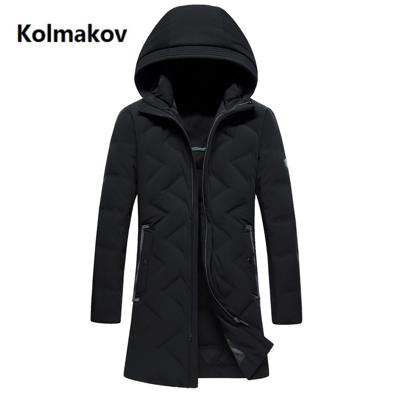 2018 winter Men fashion hooded   Down     Coat   and   Down   Jacket Casual   coat   men's Classic Thicken 90% white duck   down   Jacket men