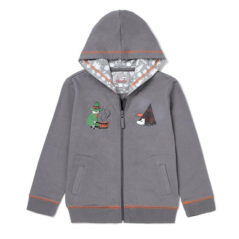 2015 New Moomin Character Cotton kids hoodies boys Gray long sleeve Sweatshirts boys active disfraces infantiles hoodies boys