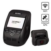 Rexing V1P Pro Dual 1080 p Full HD передний и задний 170 градусов широкоугольный Wi-Fi автомобильный видеорегистратор со встроенным gps регистратором