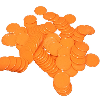 100PCS No-denomination Blank Plastic Poker Chips Set Cheap Set of Poker 25*2mm Lable/Tag image