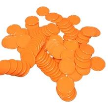 Фотография 90PCS No-denomination Blank Chips Plastic Poker chips Set 25mm*2mm Lable/tag
