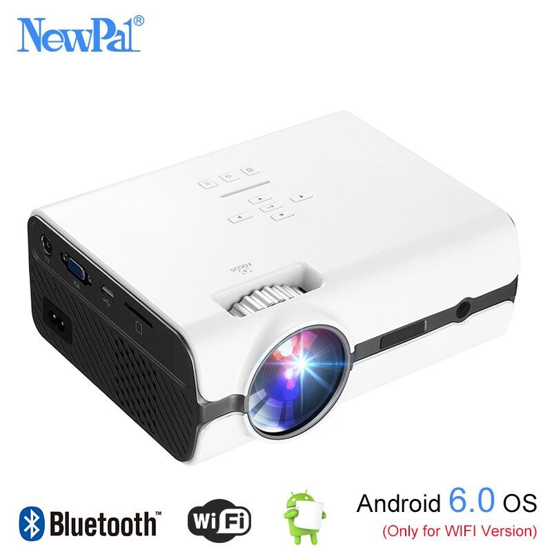 Newpal U45 Pro HA CONDOTTO il Proiettore 1080 p Mini Proiettore Home Cinema (Supporto DLNA, Scheda SD, HDMI, VGA) Con Android 6.0 BT WIFI Sintonizzatore TV