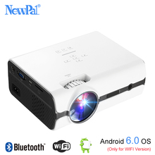 Newpal U45 Pro LED Projector 1080P Mini Proyector Home Cinema(Support DLNA,SD Card,HDMI,VGA)With Android 6.0 BT WIFI TV Tuner