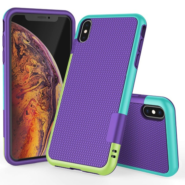 Heavy Duty Hybrid Impact Shockproof Armor Rugged Case for iPhone XS Max XR 10 8 7 6s Plus Hard PC+Soft TPU Rubber Silicone Cover