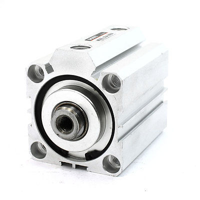 50mm Bore 50mm Stroke Single Rod Aluminum Alloy Air Cylinder SDA50x50 silver tone aluminum alloy air compressor connecting rod 12mm x 20mm x 69mm