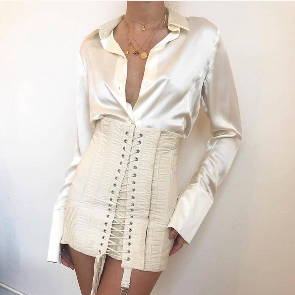 chic skirt women high waist lace up slim skirt ddxgz2 5 19
