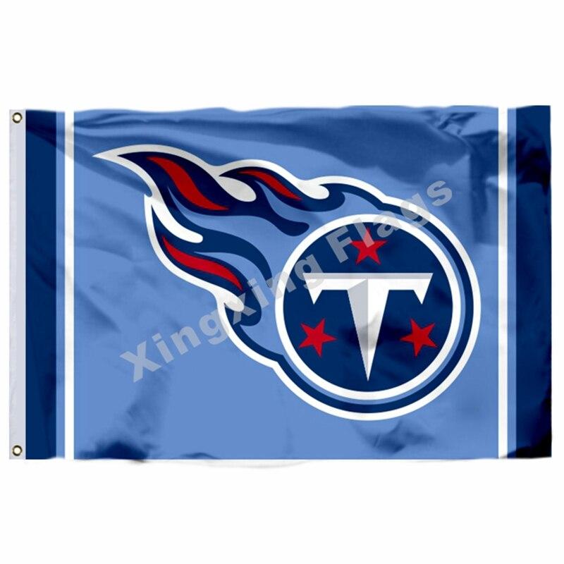 Tennessee Titans Column Flag 3ft X 5ft Polyester Nfl