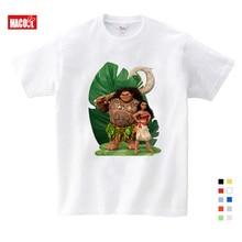 New Boys Girls T-shirt Kids Tees Baby Girl Shirts Cartoon Moana Ocean Romance Children Short Sleeve Vaiana T Shirt Tops 3T-9T стоимость